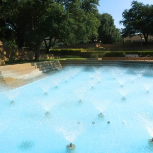 Aeration pool at water gardens