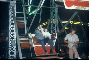 A favorite memory - riding the ferris wheel each year with my dad...
